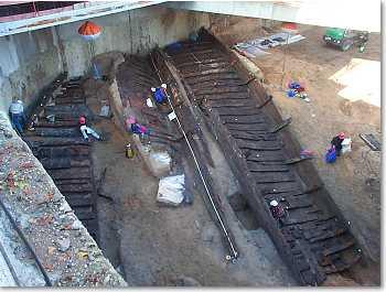 Des navires romains découverts à Lyon