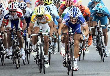 Une arrivée du Tour de France