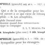 La lettre x comme… la xénophilie, la xénophobie